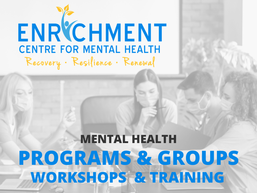 Mental Health Programs & Groups resuming next week