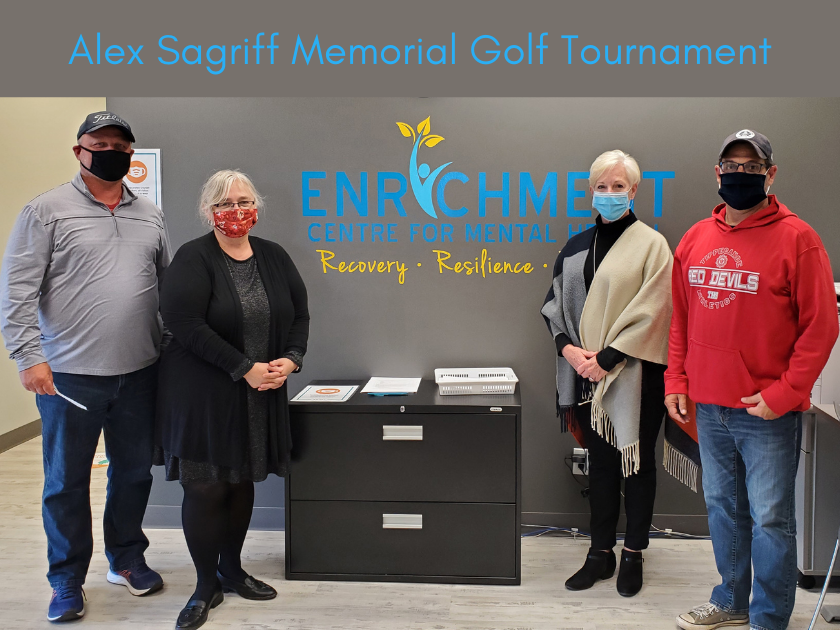 Enrichment Centre receives funds from the Inaugural Alex Sagriff Memorial Golf Tournament