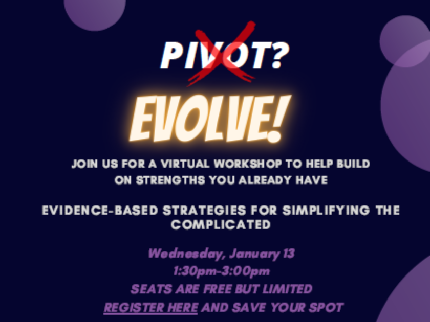 Free Online Workshop Wed. Jan. 13 – EVOLVE