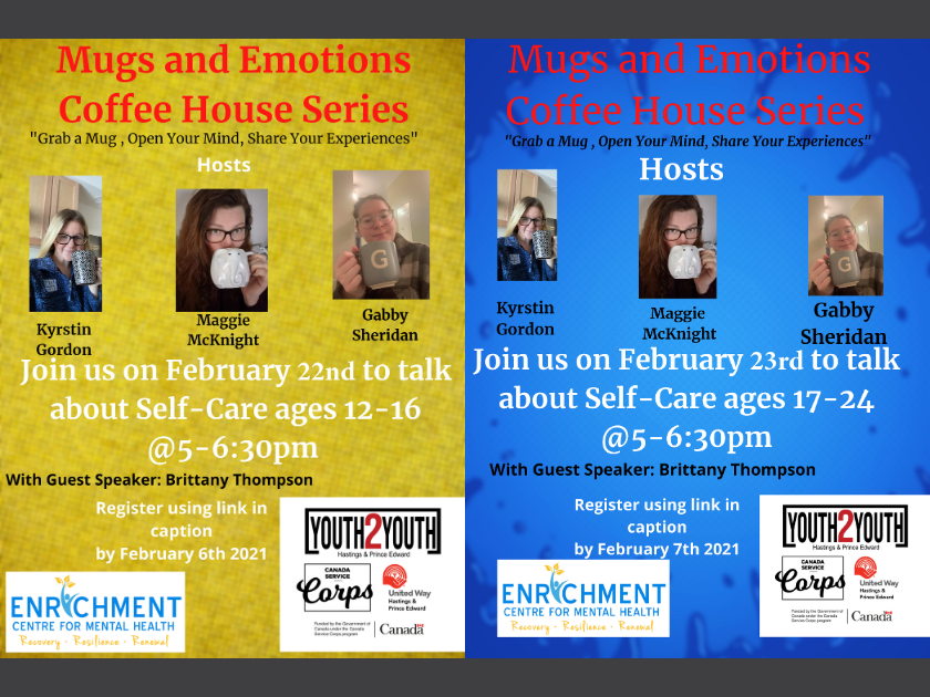 "New Dates for Youth2Youth ""Mugs and Emotions"" Virtual Coffee House Series"