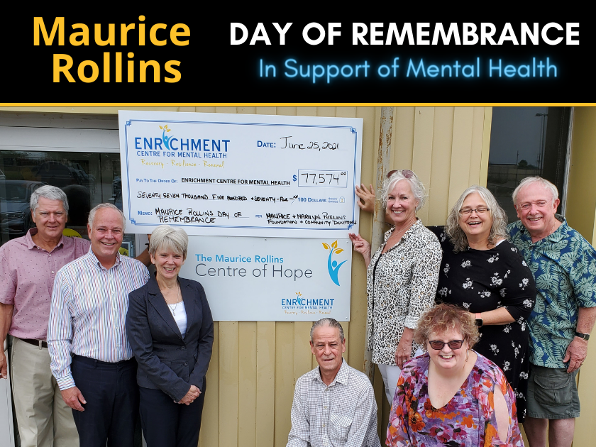 Maurice Rollins Day of Remembrance in Support of Mental Health raises $77,574 for the Centre of Hope