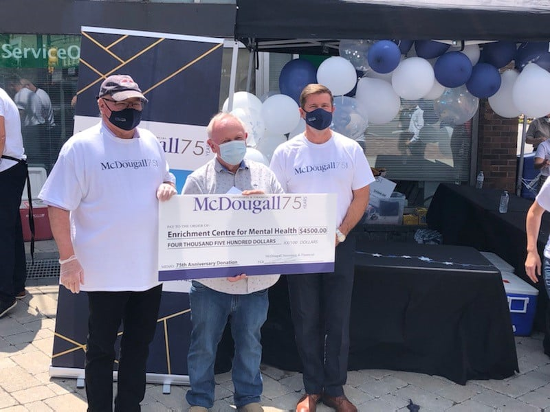 McDougall's Insurance & Financial celebrates 75th Anniversary with donations to local charities